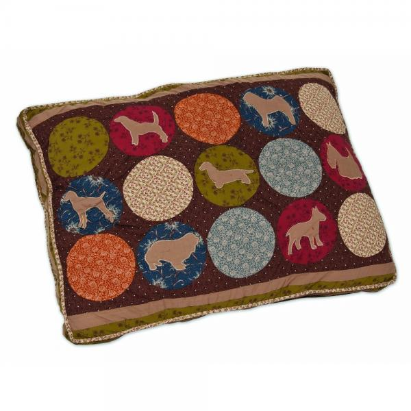Aspen Pet Quilted Gussetted Pet Bed, 27-Inch by 36-Inch, Max Pattern