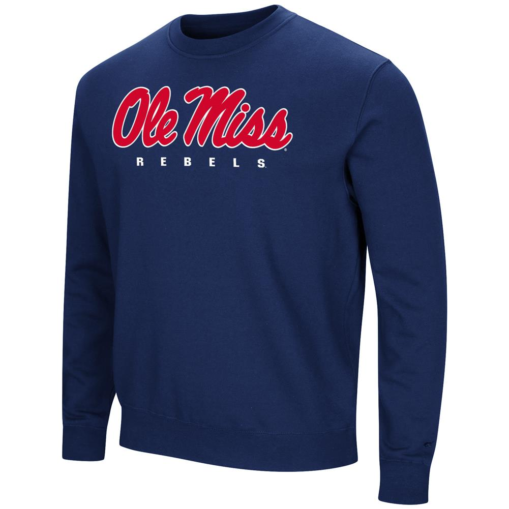 Ole Miss Rebels Sweatshirt Playbook Crew Neck Fleece