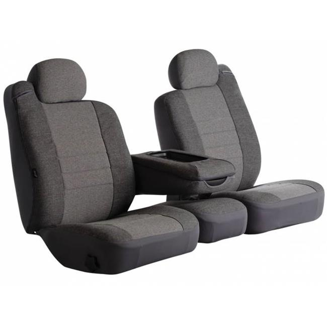 Gray Custom Fit Rear Seat Cover Split Seat 60-40 - Tweed for 2014