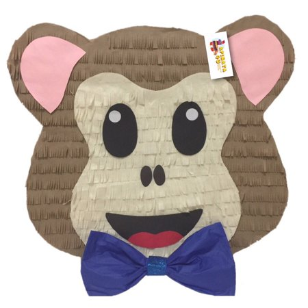 Monkey Pinata - APINATA4U Monkey Emoticon Pinata with Bowtie