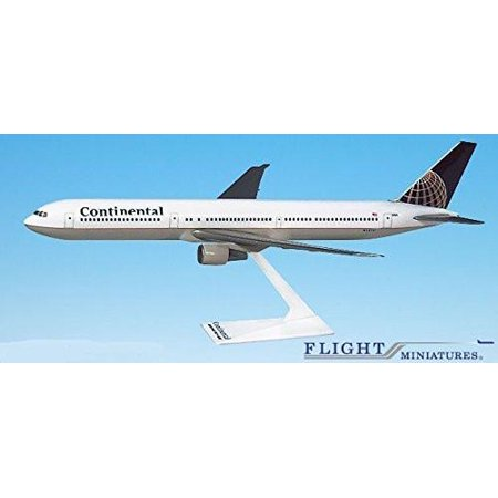 Continental (91-10) Boeing 757-200 Airplane Miniature Model Plastic Snap Fit 1:200 Part# ABO-75720H-022 ()