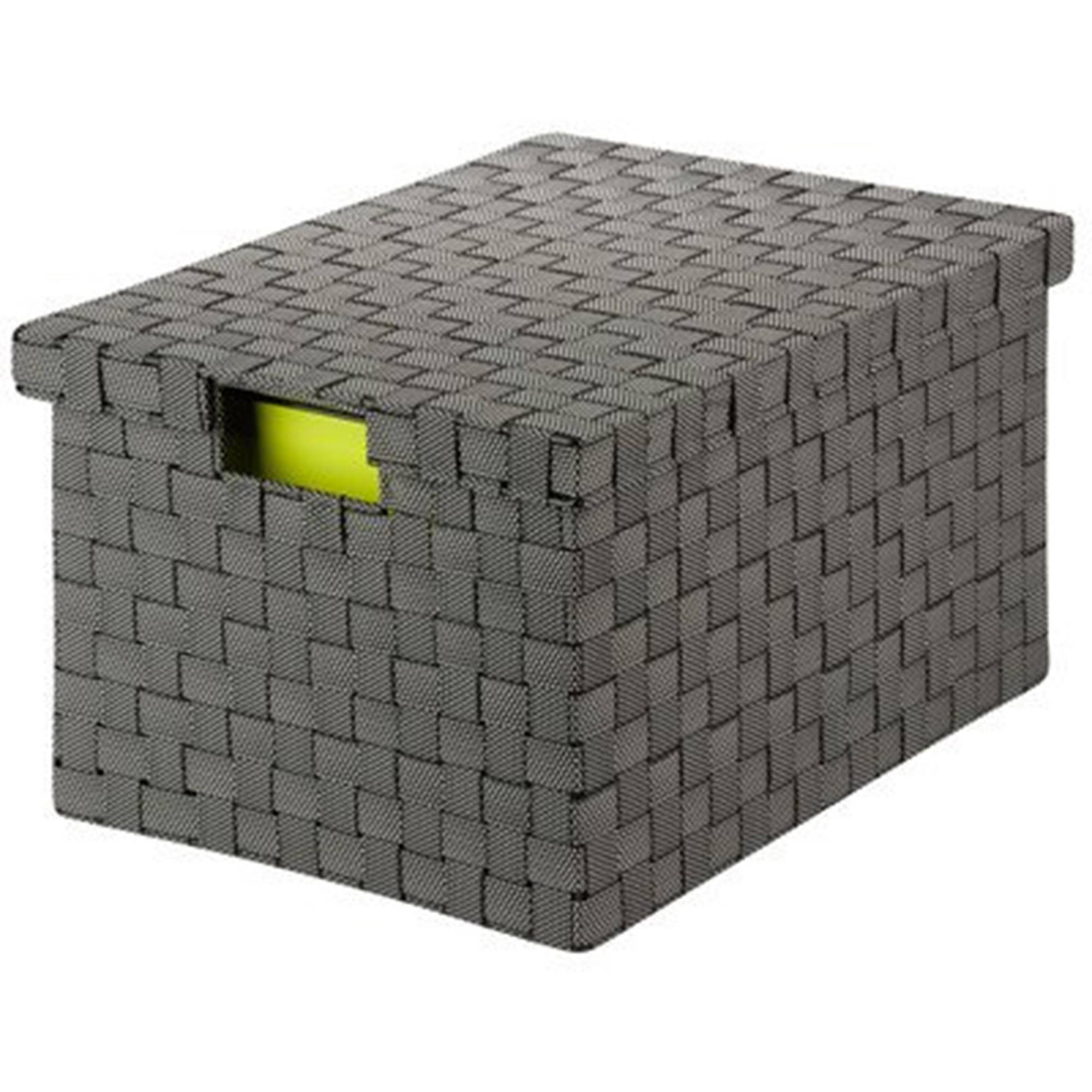 Honey Can Do Large Woven File Box with Handles, Multiple Colors