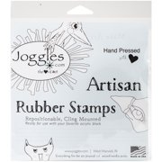 """Joggles Cling Stamp 1.25""""x1.25"""" -Scribble Flower #1"""