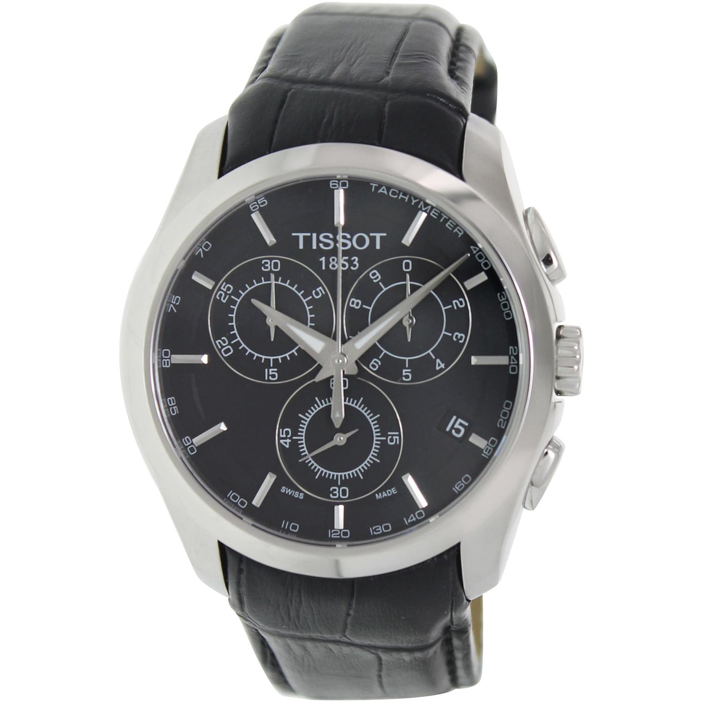 Tissot Men's Couturier T035.617.16.051.00 Black Leather Q...
