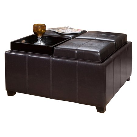 Fabulous Four Sectioned Faux Leather Cube Storage Ottoman Beatyapartments Chair Design Images Beatyapartmentscom
