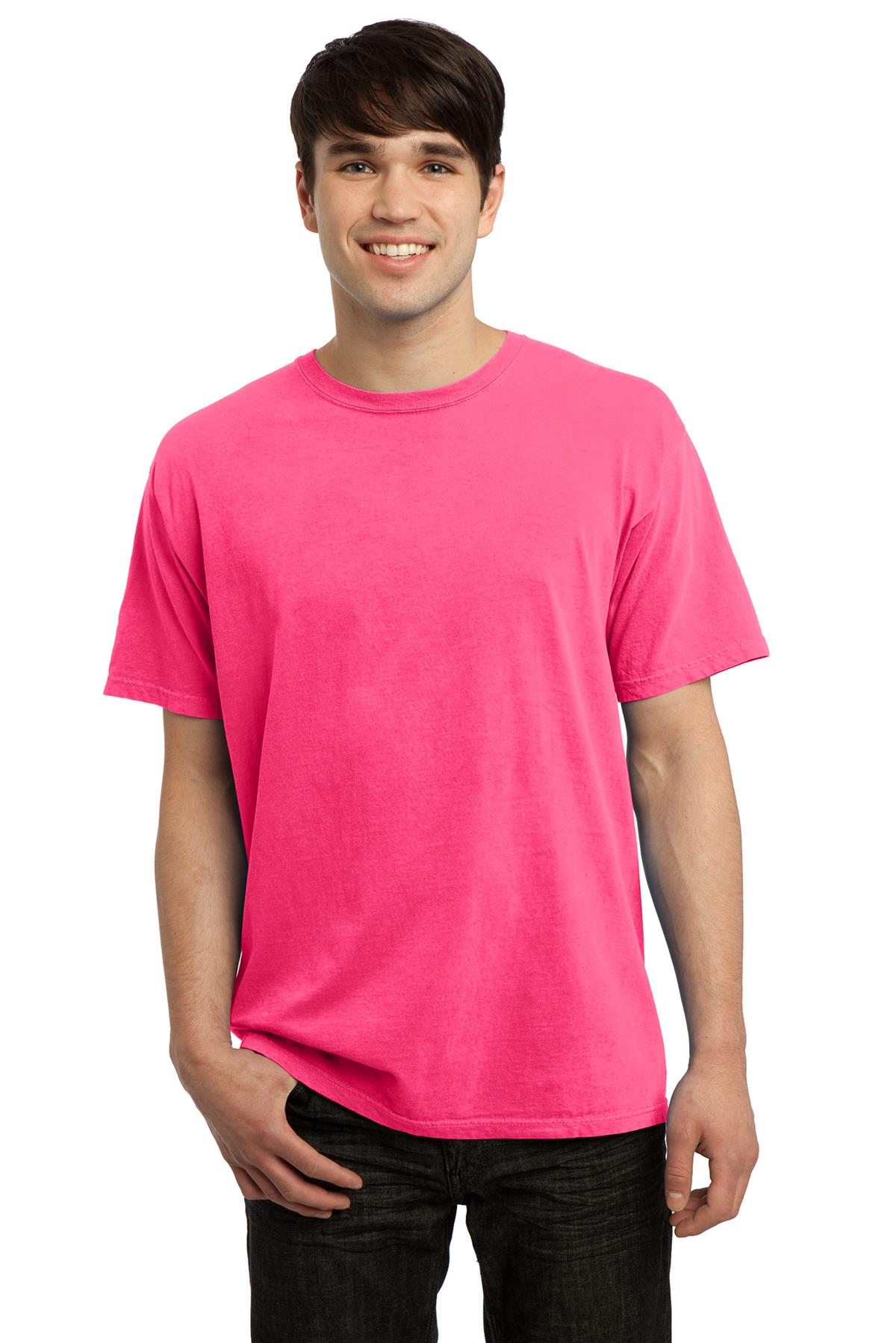 Port & Company Pigment-Dyed Tee. Neon Yellow. 4XL.