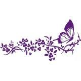 Custom Wall Decal Butterfly On Branch Picture Art Living Room Peel & Stick Sticker - Vinyl Wall Decal