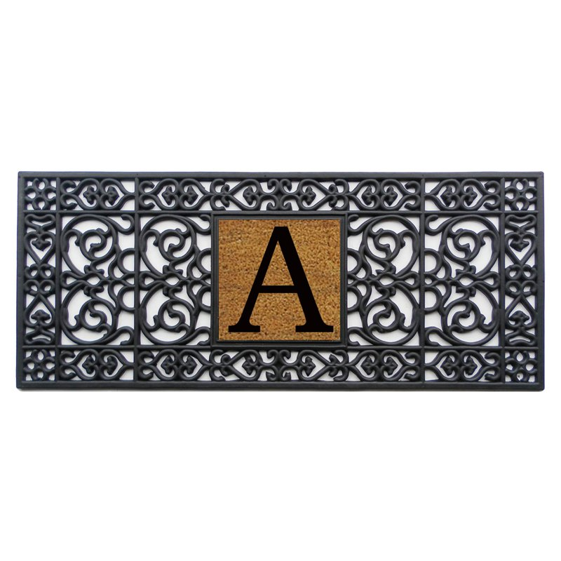 Home and More 17 x 41 Monogrammed Doormat - A