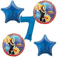 Captain Marvel 7th Birthday Balloons