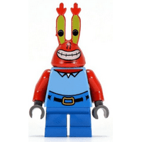 LEGO Spongebob Eugene Mr Krabs Minifigure NEW only handled for sorting.