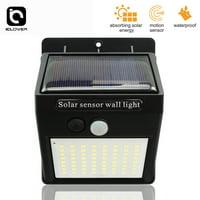 IClover Wall Pack 100 LED Solar PIR Motion Sensor Wall Lamp Outdoor Waterproof Garden Security Light