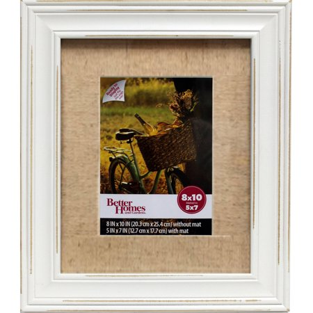 better homes and gardens 8x10 frame distressed white