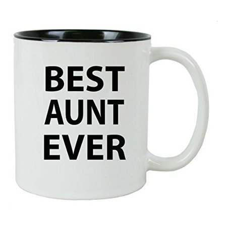 Best Aunt Ever 11 oz Ceramic Coffee Mug with FREE Gift Box - Great Gift for Birthdays or Christmas Gift for Mom Sister Aunt (Best Of Buffalo Gift Box)