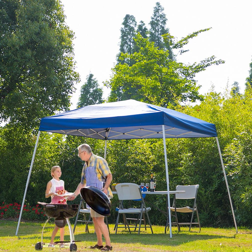 Erommy Outdoor Pop Up Canopy Tent Portable Slant Leg ...