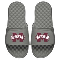 Mississippi State Bulldogs ISlide Primary Logo Slide Sandals - Gray