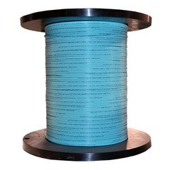 2 Fiber Indoor Distribution Fiber Optic Cable, Multimode, 50/125, OM3, 10 Gbit, Aqua, Riser Rated, Spool, 1000 foot