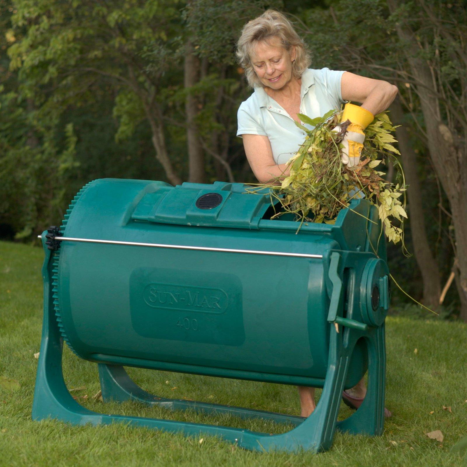 Sun-Mar 400 Autoflow 102 Gallon Compost Tumbler