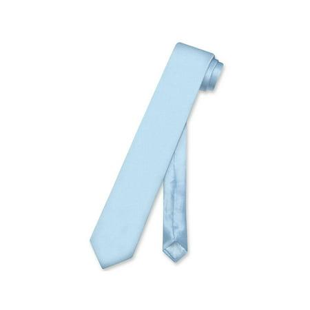 (Biagio 100% SILK Narrow NeckTie Skinny BABY BLUE Color Men's 2.5