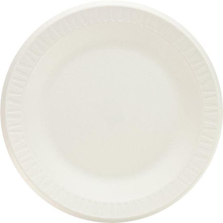 Concorde Non Laminated Foam Dinnerware - 7 in. Concorde Non-Laminated Foam Dinnerware Plate, White - Case of 1000
