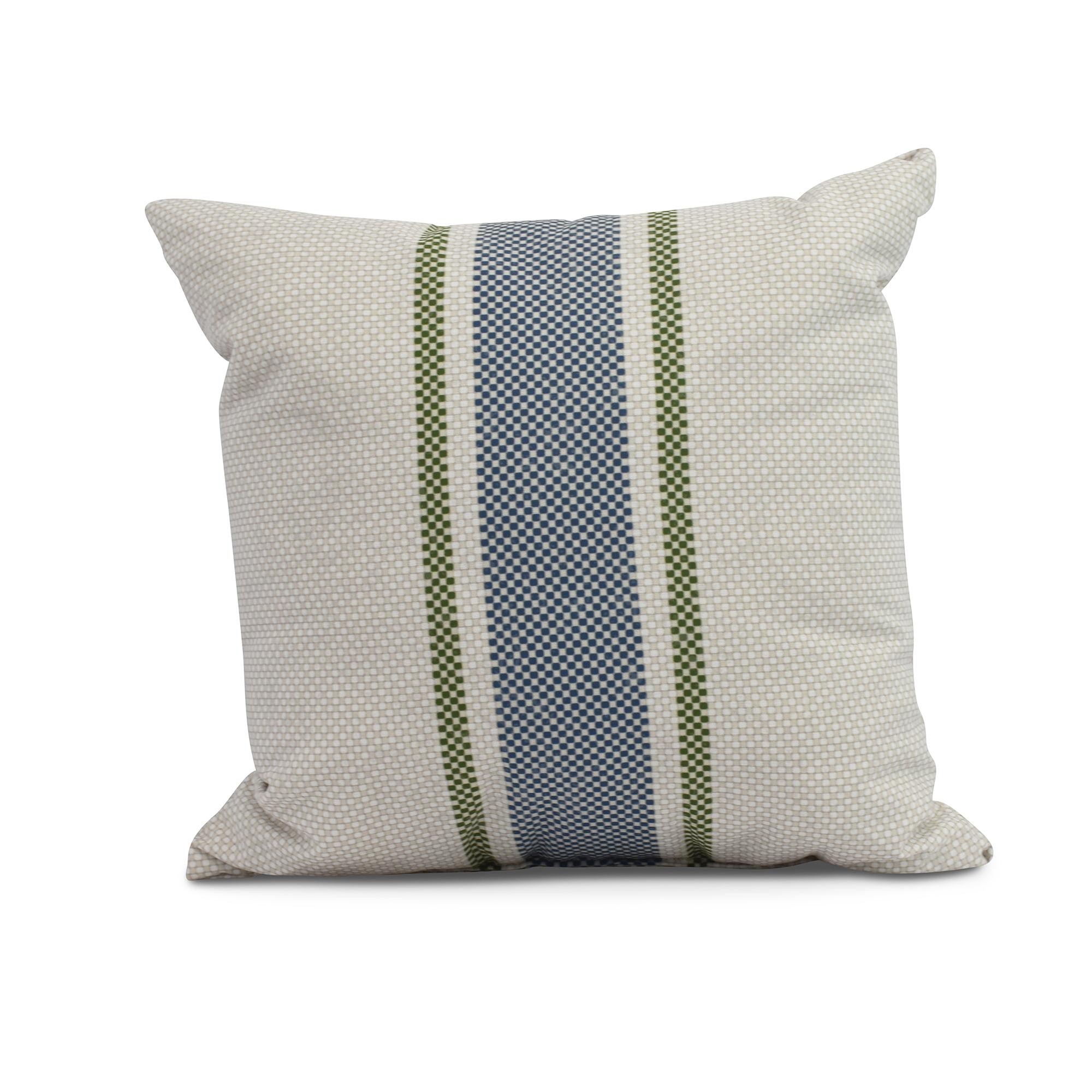 Simply Daisy, 20 x 20 inch,Grain Sack Decorative Pillow,Navy Blue