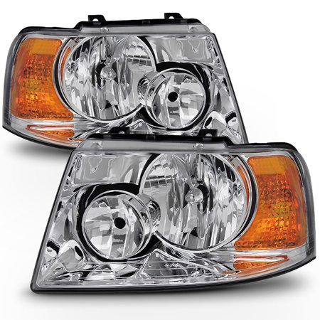 Fit 2003 2004 2005 2006 Ford Expedition Headlights Replacement  Lamp 03 04 05 06