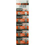 Strip of 10 Fresh Maxell LR1130 (189) 1.5v Alkaline Batteries