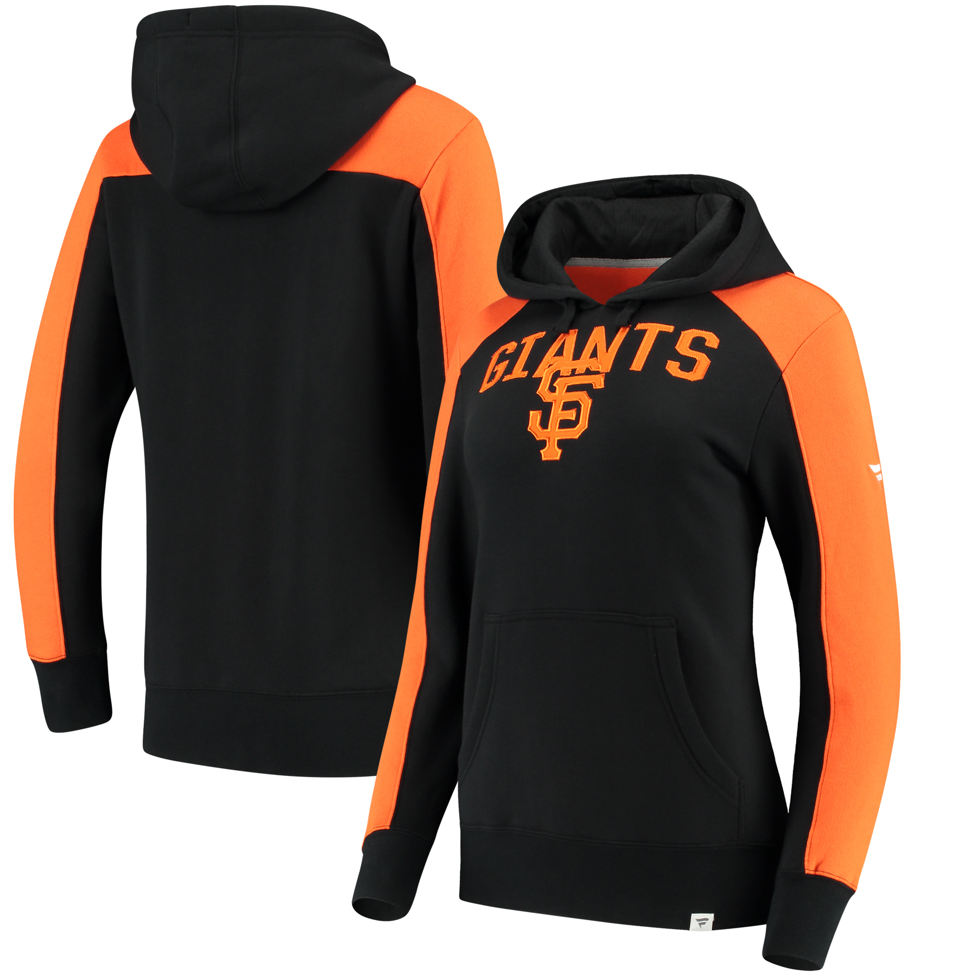 San Francisco Giants Fanatics Branded Women's Iconic Pullover Hoodie - Black/Orange