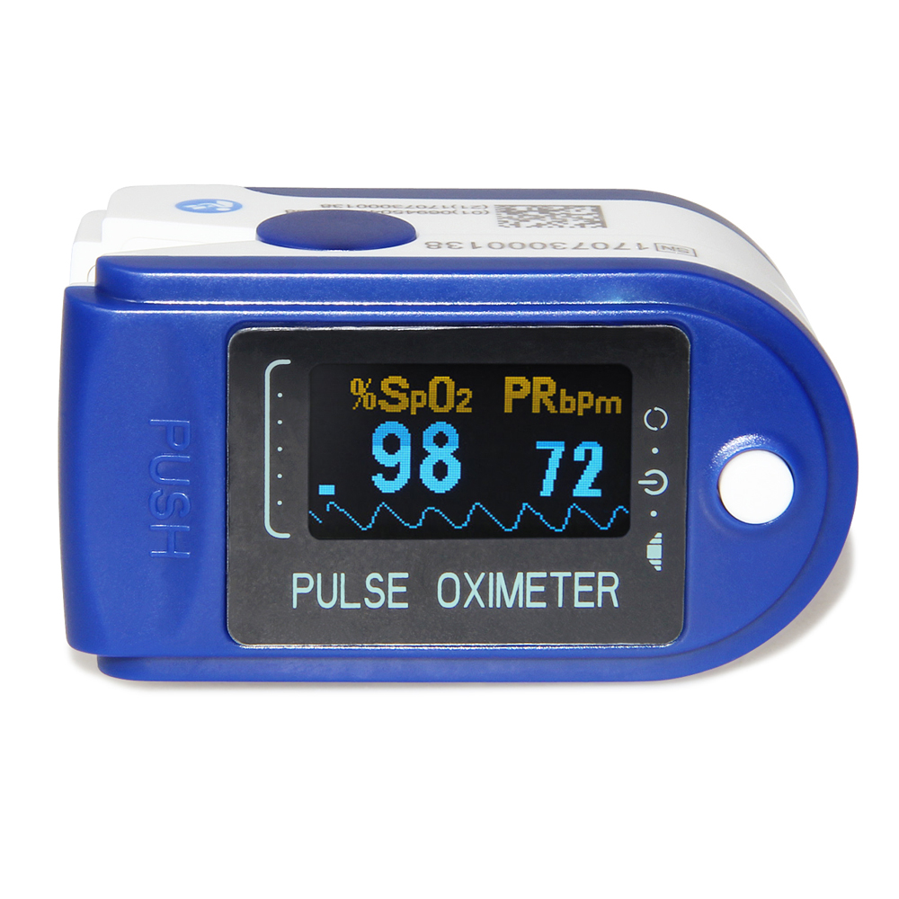 OLED Fingertip Pulse Oximeter Blood Oxygen Saturation Monitor with Carry Case and lanyard