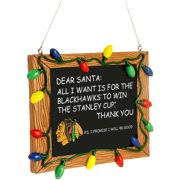 Chicago Blackhawks Chalkboard Sign Ornament - No Size
