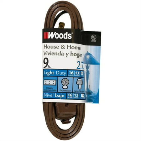 Coleman Cable 9-Feet Cube Extension Cord with Power Tap, Brown 0601