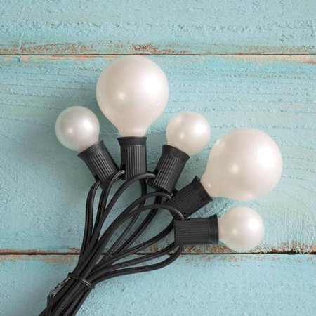 Duet Globe String Lights, G30 & G50 Bulbs, 50 Ft Black Wire, C7, Pearl - Walmart.com