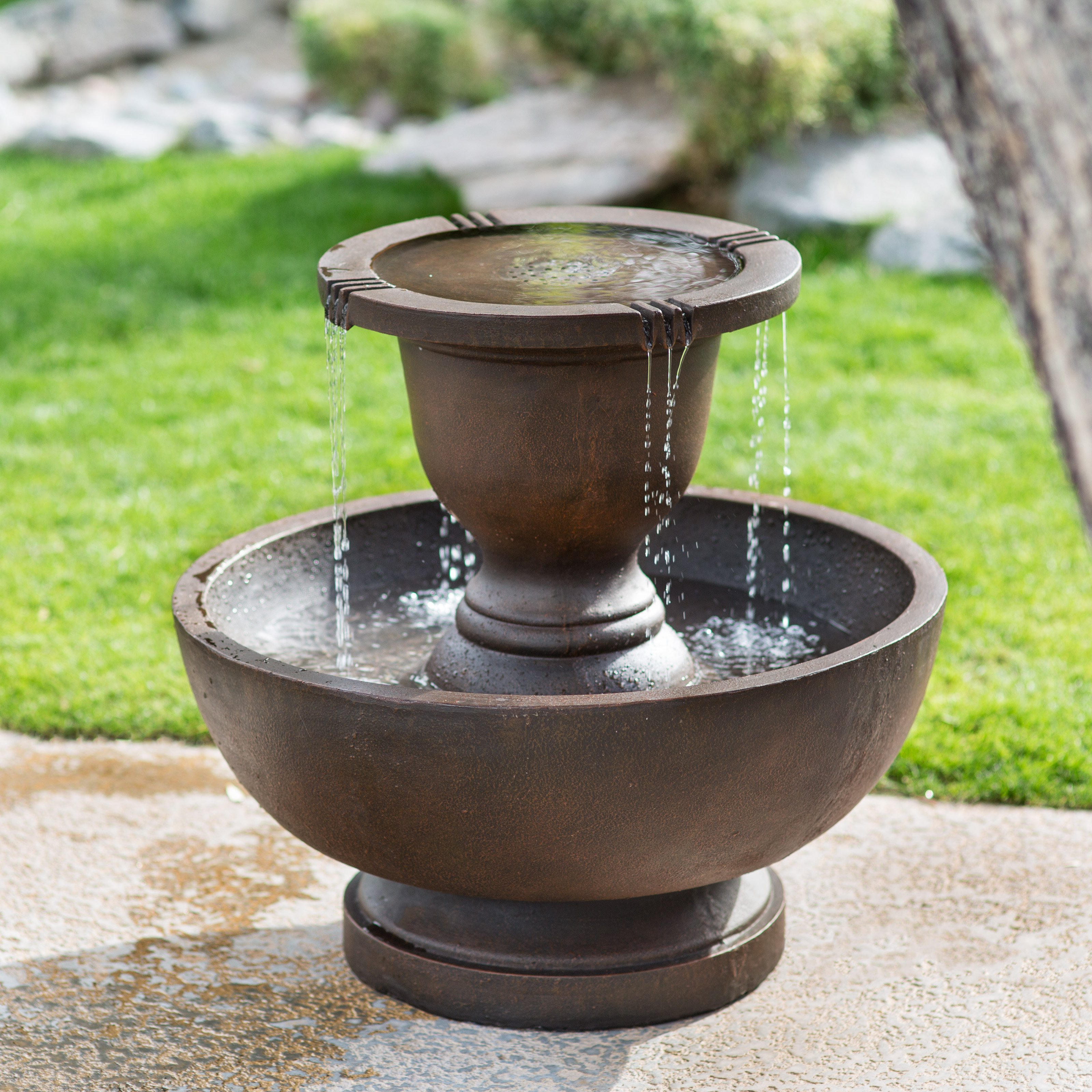 Jeco Polyresin 2-Tier Fountain