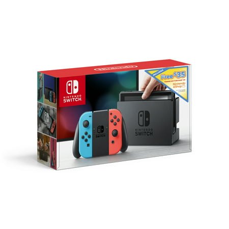 Nintendo, Switch + $35 eShop Credit, Nintendo Switch, Neon Red & Neon Blue, HACSKAB35