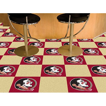 Fanmats College Ncaa Florida State University 18 Inch X18 Inch 9 Ounce 100   Nylon Face Team Carpet Tiles