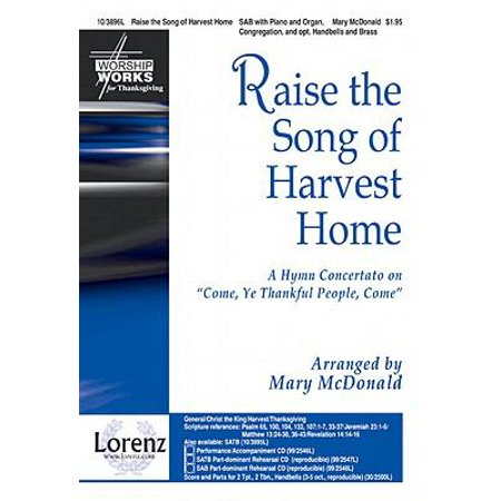Raise The Song Of Harvest Home Sac Anthem   Sab O   P   2 Tpt  2 Tbn Hb 3 5 P A Cd   Worship Works   Mary Mcdonald   Sheet Music   103896L