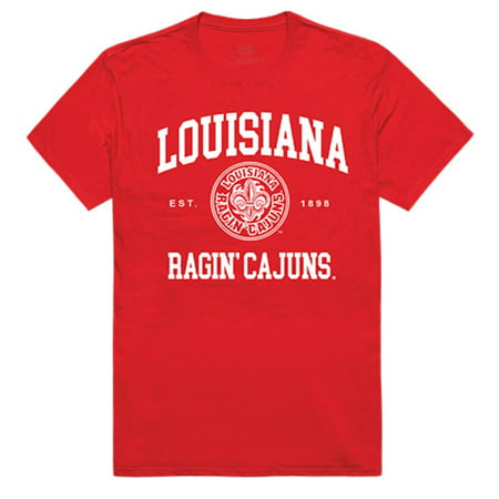 University of Louisiana at Lafayette Ragin' Cajuns NCAA Seal Tee T-Shirt Red XXL (Party City Lafayette Louisiana)