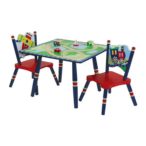 Levels of Discovery Gettin' Around Kids' 3 Piece Table and Chair Set