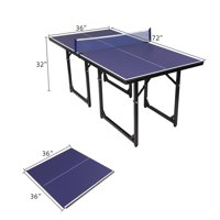 UBesGoo Folding Ping Pong Table, for Indoor/Outdoor Kids Adult Table Tennis Games