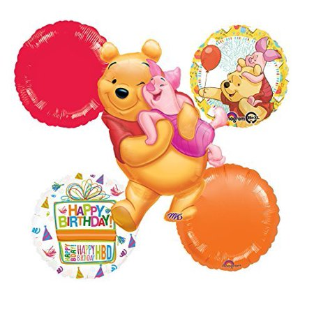 Winnie The Pooh and Piglet Celebration Birthday Party Balloon - Winnie The Pooh Balloons
