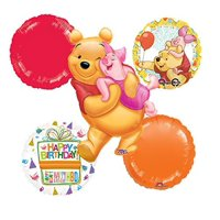 Winnie The Pooh and Piglet Celebration Birthday Party Balloon