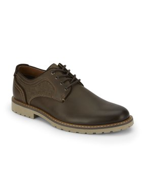 Lucky Brand Mens Malcom Leather Plain Toe Oxford Shoe