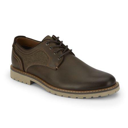 Lucky Brand Mens Malcom Leather Plain Toe Oxford Shoe
