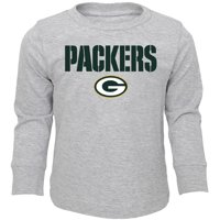 Toddler Heathered Gray Green Bay Packers Team Long Sleeve T-Shirt