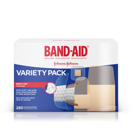 (Band-Aid Brand Adhesive Bandage Variety Pack, Assorted Sizes, 280 ct)