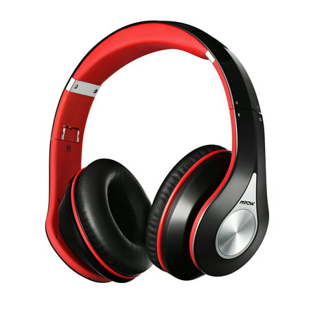 Mpow On-Ear Bluetooth Headphones with Noise Cancelling Stereo, Foldable Headband, Ergonomic Designed Soft Earmuffs, Built-in Mic, 13 Hours Playback Time for PC, Laptops and Smartphones