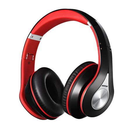 Noise Canceling Head (Mpow On-Ear Bluetooth Headphones with Noise Cancelling Stereo, Foldable Headband, Ergonomic Designed Soft Earmuffs, Built-in Mic, 13 Hours Playback Time for PC, Laptops and Smartphones (Red))