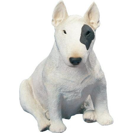 Bull Sculpture (Sandicast Original Size White/Spot Bull Terrier)