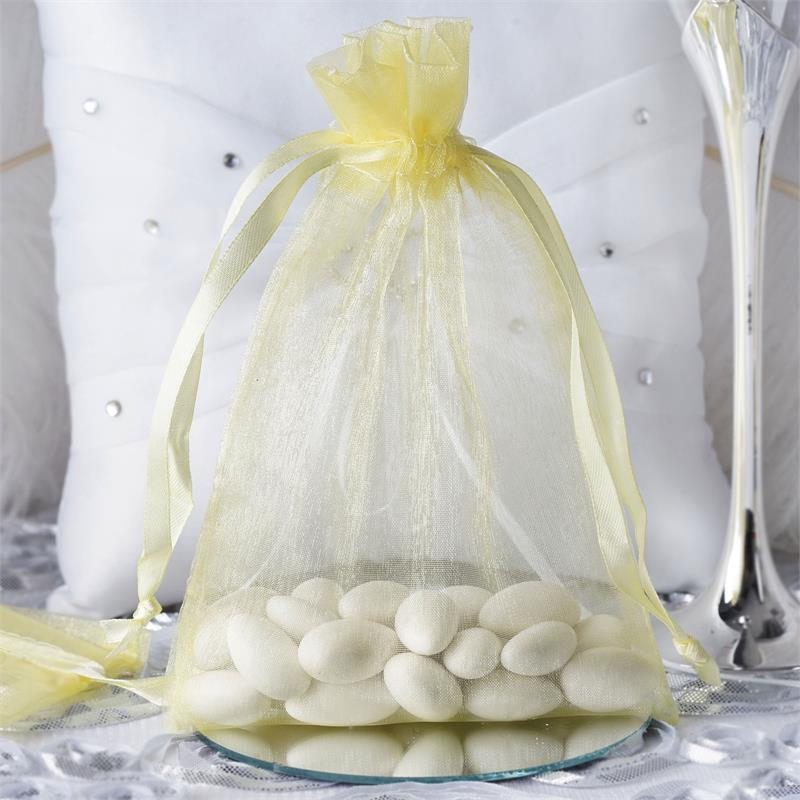 "Efavormart 50PCS  Organza Gift Bag Drawstring Pouch for Wedding Party Favor Jewelry Candy Sheer Organza Bags - 5""x7"""