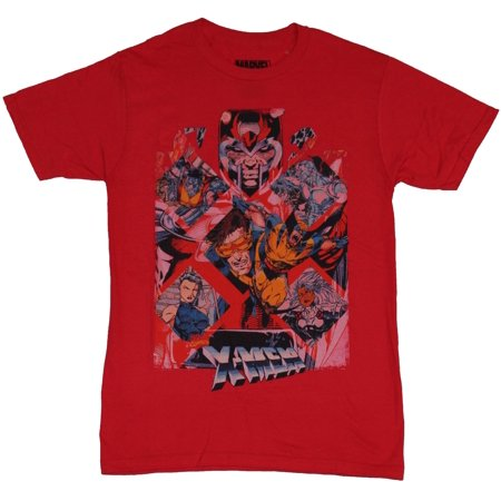 X-Men (Marvel Comics) Mens T-Shirt - Magneto Over 90s Style Character  Diamonds - Walmart com