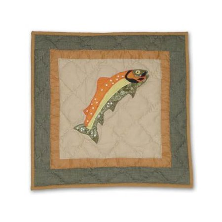 Fly Fishing Fish Toss Pillow